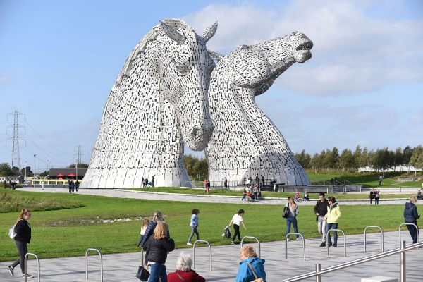 Explore the famous Kelpies , the Falkirk Wheel and Callendar House in Falkirk . The Kelpies are the largest equine sculptures in the world. Five hour private tour around Falkirk