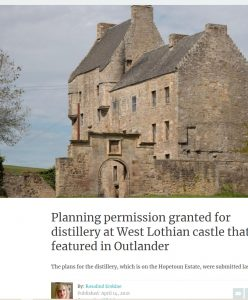 Lallybroch , Outlander , picture by David Rankin, published on the Scotsman website